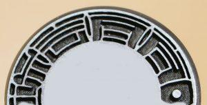チタン製実印の表面