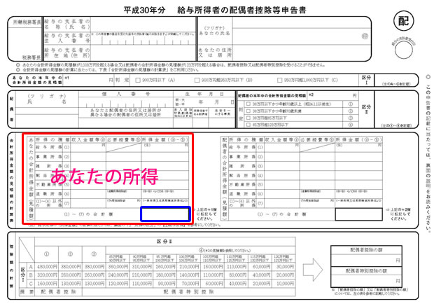 H30 配偶者控除等申告書②