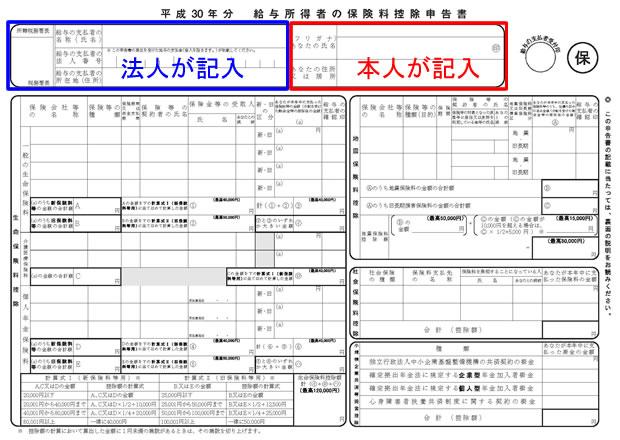 平成30年分 保険料控除申告書①